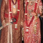 bride groom dress combinations