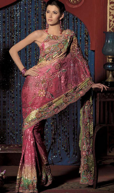 15 Pink Dresses: Saree