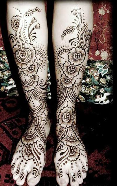Mehndi Design:For Foot