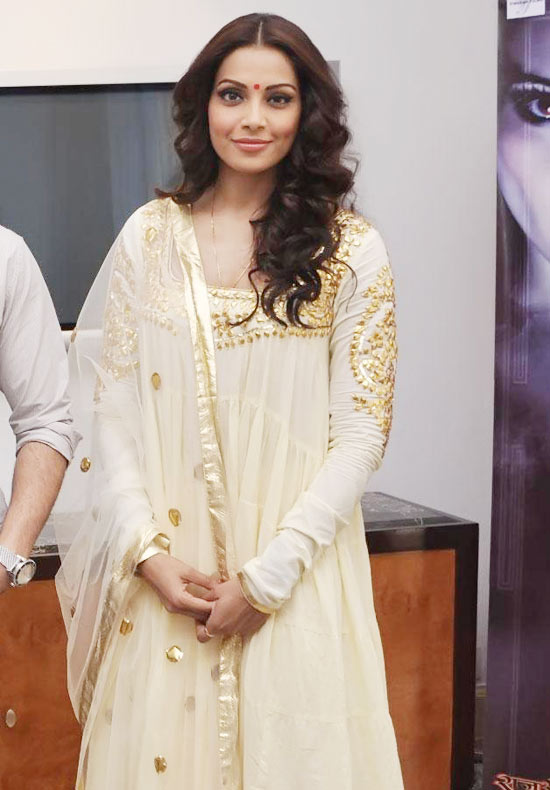 Style Check: Cream And Golden Anarkali Suit