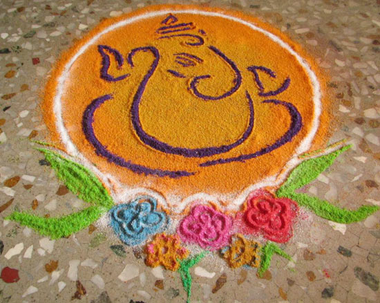 Awesome Rangoli's Done By A Friend