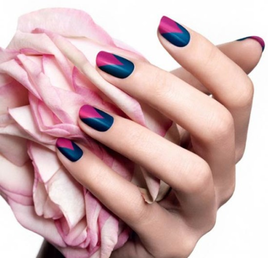 Simple nail art on pink color naturelbellefemme simple formal colors easy nail art designs color block your nails view images prinsesfo Choice Image