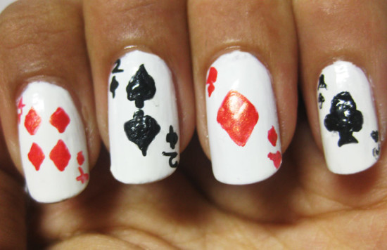 The Playing Cards Nail Art