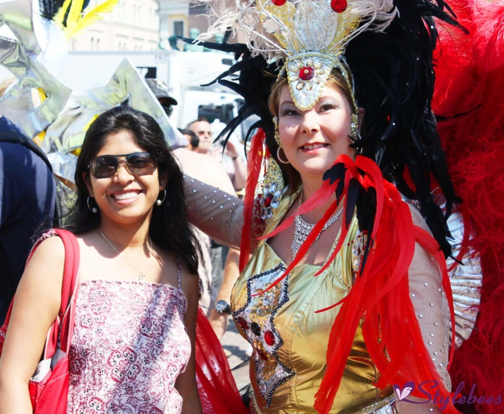 Me posing with Samba dancer