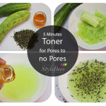 5 Minutes Cucumber and green tea toner to minimize facial pores