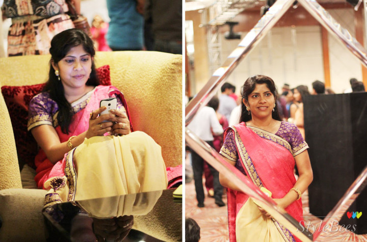 Saree fashion at  at Bangalore Fashion Week