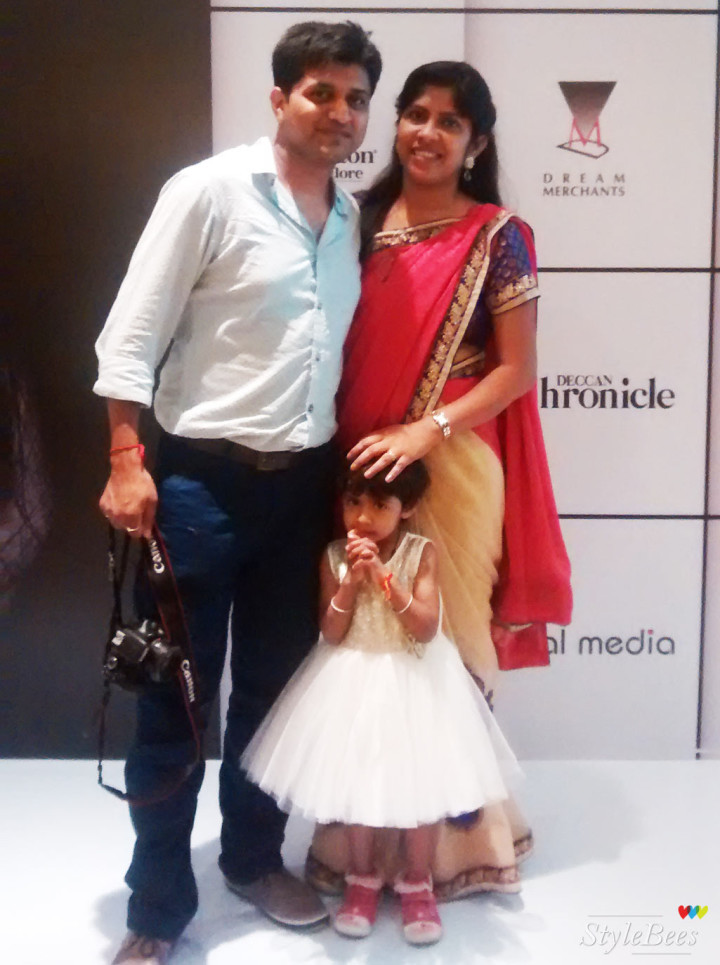 Swati and family at Bangalore Fashion Week
