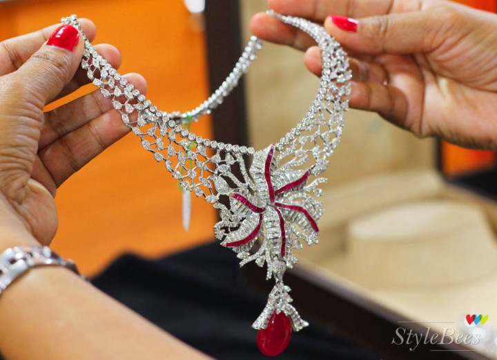 Diamond and Ruby necklace at Abaran Jewellers Bangalore.jpg