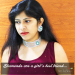 Diamond and emerald choker necklace at Abaran Jewellers Bangalore 1
