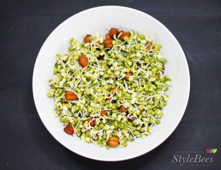 Sprout salad as evening snack