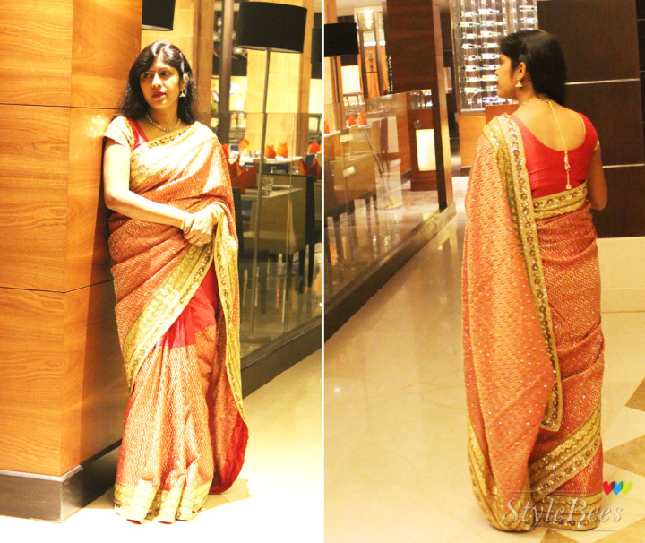 Silk saree design for weddings