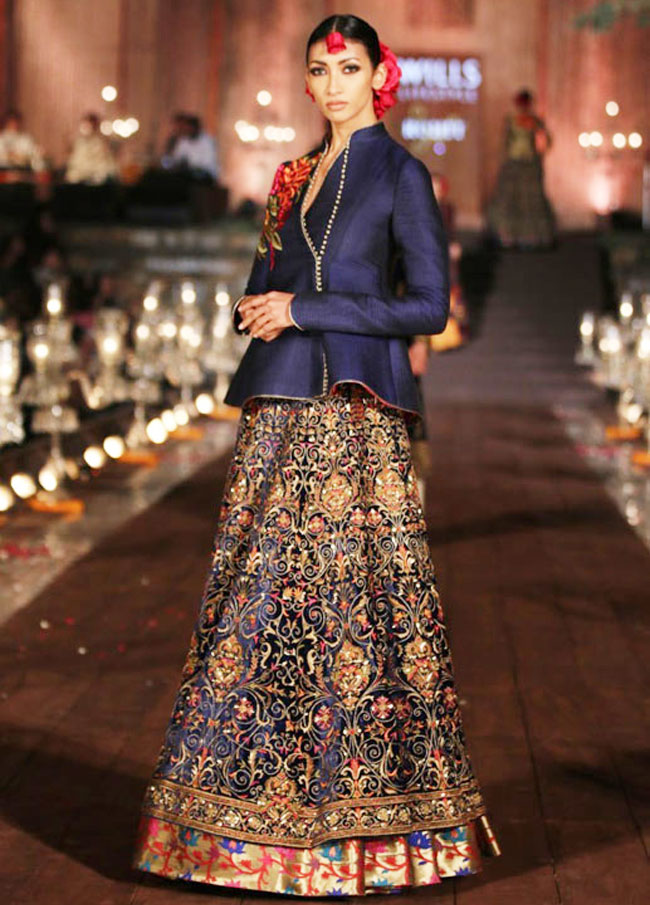 Latest lehenga from Gulbagh collection of rohit bal