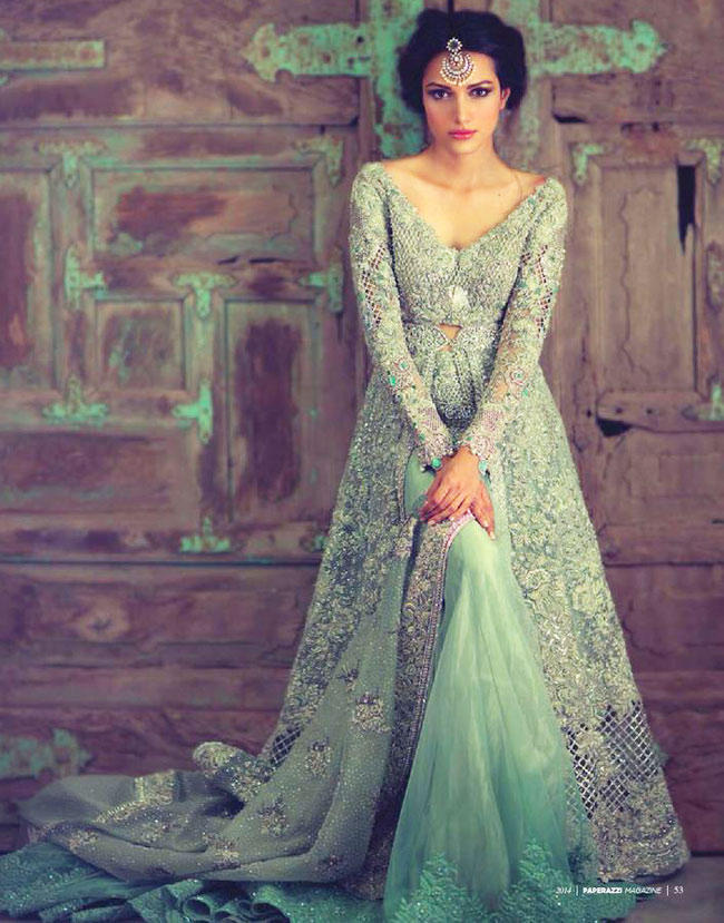 green lehenga blouse designs