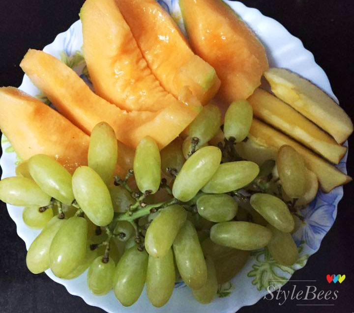 Fruit salad is healthy and tasty