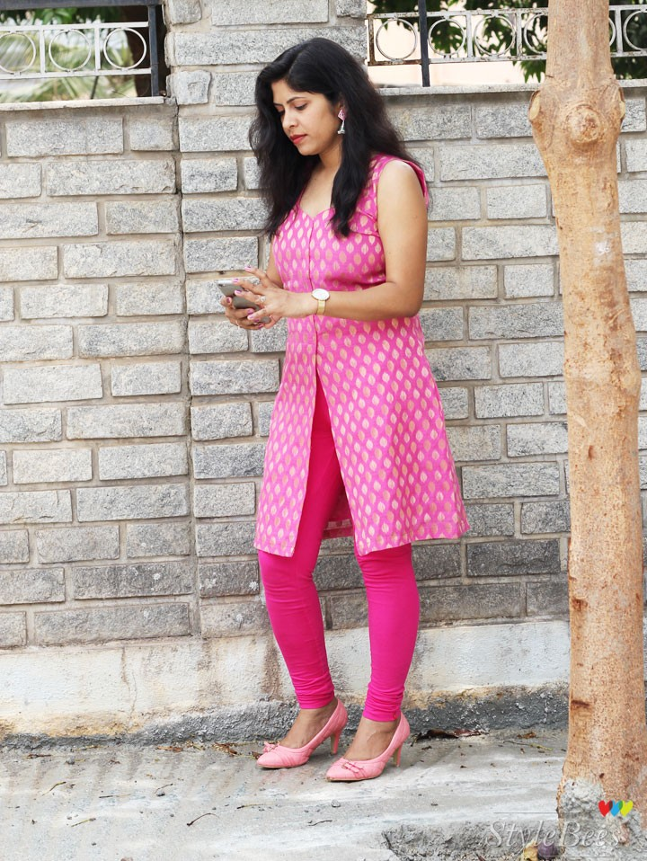 Pink-brocade-kurta-design