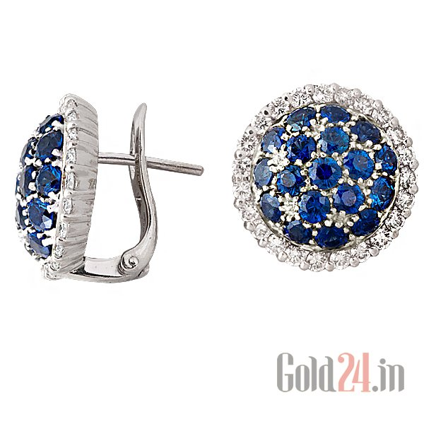 Diamond earring at Gold24.in