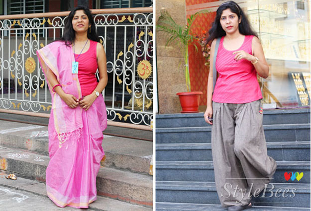 fusion-saree-style-matched-with-top