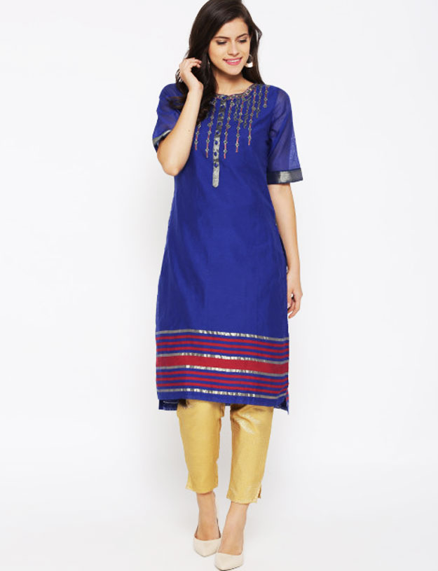fusion-ethnic-wear-kurta-with-cigarette-pants