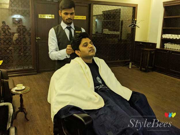 Royal haircut at Truefitt and Hill Salon, Indiranagar Bangalore