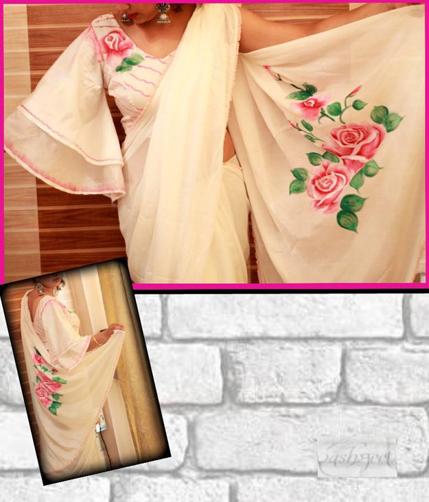 handpainted and handcrafted sarees